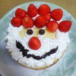 子どもと作ろう!かわいいサンタの顔のクリスマスケーキ!